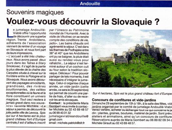 Courrier de la Mayenne du 12 septembre 2013